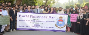 PU organizes awareness walk on world philosophy day